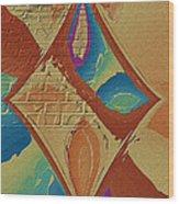 Look Behind The Brick Wall Wood Print by Deborah Benoit