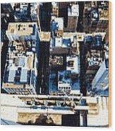 Looking Down Color 16 Wood Print by Scott Kelley