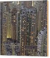 Looking Down On Crowded Residential Wood Print