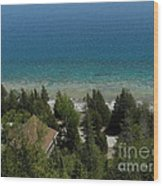 Looking Down On Dyers Bay Wood Print