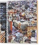 Looking East In Baltimore Wood Print