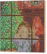 Looking for Santa Wood Print