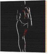 Looking Girl Wood Print