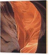 Looking Up At Antelope Canyon Wood Print