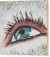 Looking Up Eye Art Wood Print