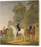 Lord Bulkeley And His Harriers Wood Print by Francis Sartorius