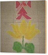 Lord Ganesh Rangoli Wood Print