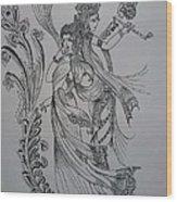 Lord Krishna Wood Print by Aditya Sarawagi