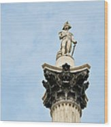 Lord Nelson's Column Wood Print