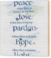 Lord Peace Wood Print