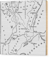 Lorraine And Alsace: Map Wood Print