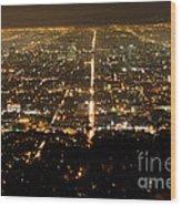 Los Angeles At Night 2 Wood Print