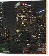 Los Angeles City Wood Print