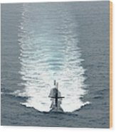 Los Angeles-class Fast Attack Submarine Wood Print