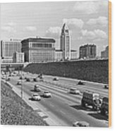 Los Angeles In The 1950s Wood Print