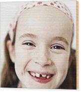 Loss Of Milk Teeth Wood Print by Ian Boddy