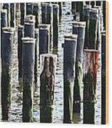 Lost Dock Wood Print