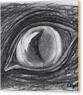 Lost In The Eye Of Your Past Wood Print