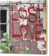Lost Love Wood Print