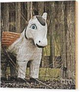 Lost Pony Wood Print