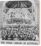 Lottery, 1873 Wood Print