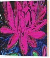Lotus 5 Wood Print