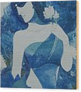 Lotus Blues Wood Print