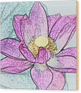 Lotus Flower Wood Print