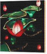 Lotus Lanterns 4 Wood Print