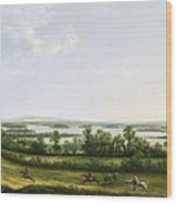Lough Erne From Knock Ninney - With Bellisle In The Distance Wood Print