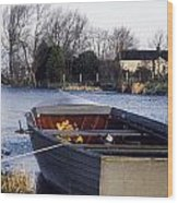 Lough Neagh, Co Antrim, Ireland Boat In Wood Print