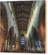 Loughborough Church Ceiling And Nave Wood Print