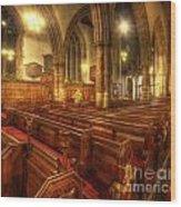 Loughborough Church Pews Wood Print