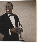 Louis Armstrong S Wood Print