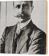 Louis Bleriot Was The First Man To Fly Wood Print by Everett
