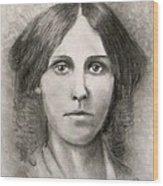 Louisa May Alcott Wood Print by Jack Skinner