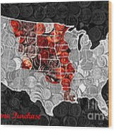 Louisiana Purchase Coin Map . V1 Wood Print
