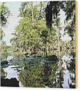 Louisiana Reflections Wood Print