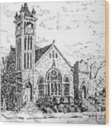 Louisianna Church 1 Wood Print