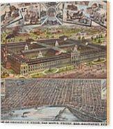 Louisville 1883 Wood Print