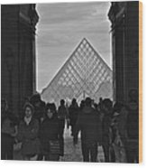 Louvre Archway Wood Print