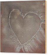 Love 4 Wood Print