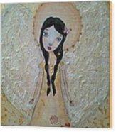 Love Angel Wood Print