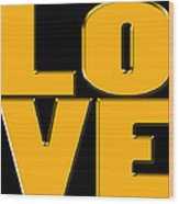 Love In Gold Wood Print