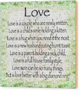 Love Poem In Green Wood Print