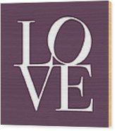 Love In Mullbery Plum Wood Print by Michael Tompsett