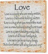 Love Poem In Orange Wood Print