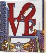 Love In Philadelphia Wood Print