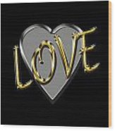 Love In Silver And Gold  Wood Print