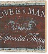 Love Is A Many Splendid Thing Wood Print